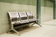 Free Metalic Benches At The Last Subway Station, Sofia, Bulgaria Stock Photography - 29826012