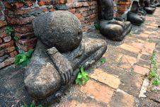 Broken Buddha Statue, Ayutthaya Royalty Free Stock Images