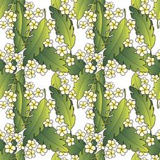 Free Pattern With Palm And Flowers Stock Photo - 29826800