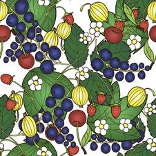 Free Pattern With Berries Royalty Free Stock Photography - 29826827