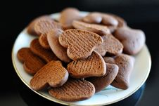 Biscuits In The Shape Of A Heart Stock Photography
