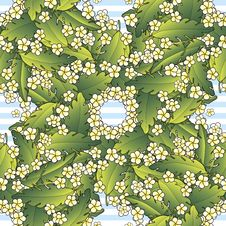 Free Pattern With Palm And Flowers Royalty Free Stock Photos - 29828218