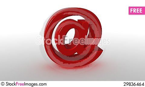 Free 3D Red At Symbol Stock Images - 29836464