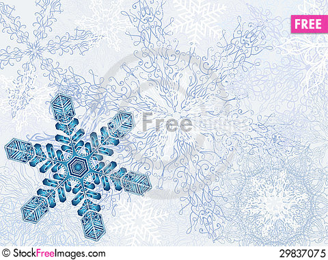 Free Dreamlike Winter Background Royalty Free Stock Photo - 29837075