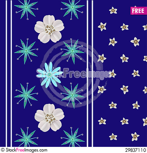 Free Bright Floral Ornament Stock Photo - 29837110