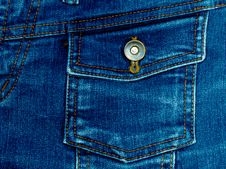 Free Blue Jeans Fabric Royalty Free Stock Photography - 29830067