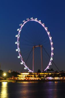 Free Singapore Flyer Night Stock Photo - 29830070