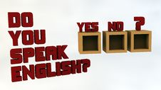 Free Do You Speak English Royalty Free Stock Photography - 29830657