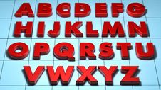 3D Alphabet Royalty Free Stock Photos