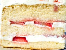 Free Strawberry Cake Stock Image - 29832041