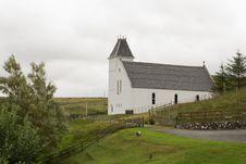 Free White Church, Isle Of Skye, Scotland. Stock Photos - 29832123