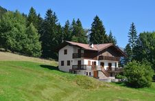 Country House In Alpine Village Stock Photo