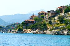 Free Turkish Village On A Seaside Stock Images - 29834844