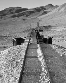 Free Abandoned Mine Tracks Royalty Free Stock Image - 29836556