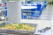 Thai Food Pad Thai , Stir Fry Noodles With Shrimp And Omelet Stock Image