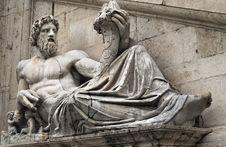 Free Statue Of Tiber For Palazzo Senatorio, Rome Royalty Free Stock Images - 29838779