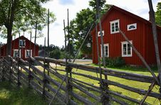 Free Typical Scandinavian Wooden Houses Royalty Free Stock Photography - 29839327