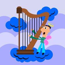 Free Harpist Royalty Free Stock Photos - 29839748