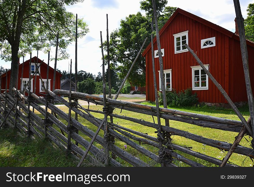 Typical Scandinavian Wooden Houses - Free Stock Images & Photos