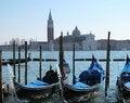 Free Gondolas In Venice And Isle Of San Giorgio Maggiore, Italy Stock Images - 29840894