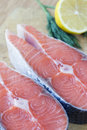 Free Two Raw Fish Steak Stock Photography - 29846272