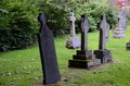Free Tombstones At A Graveyard Stock Photo - 29849260