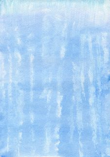Free Watercolor Blue Hand Painted Background Stock Photography - 29840662