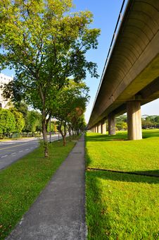 Free Perspective View Of Walkway At Yio Chu Kang Royalty Free Stock Images - 29843169