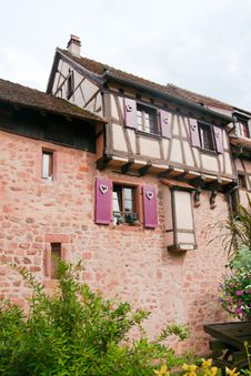 Free Old Streets In Riquewihr Town Royalty Free Stock Photo - 29845705