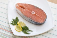 Free Salmon Steak Stock Photo - 29846310
