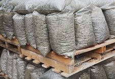 Construction Stones At Storehouse Stock Images