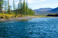 Free Blue River Under The Blue Sky. Royalty Free Stock Photography - 29851947