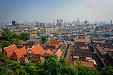 Aerial View Of Bangkok From Golden Mount Stock Photos