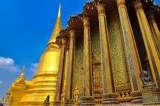 Detail Of Temple In Grand Palace Temple In Bangkok Royalty Free Stock Image