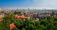 Free Panoramic Aerial View Of Bangkok From Golden Mount Temple Royalty Free Stock Photos - 29852878