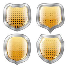 Free Four Perforated Modern Shields Stock Images - 29854824