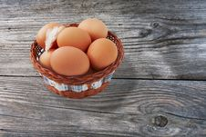 Free Easter Egg And Feather In Basket Stock Photos - 29854883