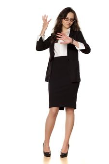 Free Worried Business Woman Royalty Free Stock Image - 29859766