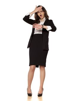 Free Worried Business Woman Royalty Free Stock Images - 29859769