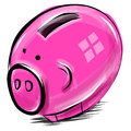 Free Money Box Cartoon Pig Sketch Vector Illustration Stock Photography - 29861802