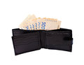 Free Black Purse Stuffed With Money Royalty Free Stock Photography - 29869907