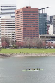 Free Willamette River With Downtown Portland In The Background Stock Image - 29860901