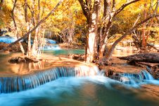Free Autumn Theme Waterfall In Thailand Stock Image - 29863911