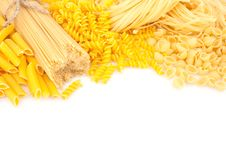 Free Different Types Of Pasta On White Royalty Free Stock Image - 29864646