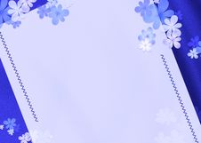 Free Background Blue  Flowers Royalty Free Stock Photography - 29865517