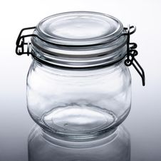 Empty Glass Jar Stock Photography