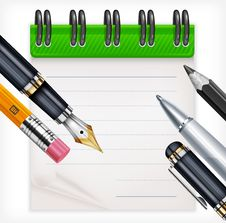 Free Notebook And Writing Tools Stock Photos - 29872023