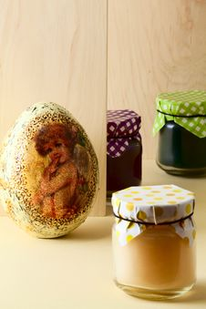 Free Easter Treats And Decorative Egg Stock Photography - 29872582