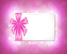 Free Card With A Pink Ribbon Stock Images - 29889364