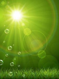 Free Summer Green Background Royalty Free Stock Images - 29889559